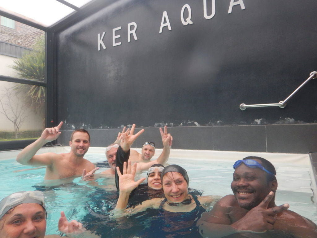 groupe du stage aquaphobie osélo du 22 et 23 février 2020