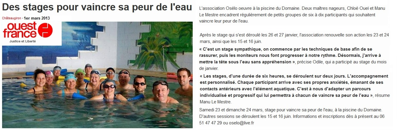 Presse os lo for Piscine chateaugiron